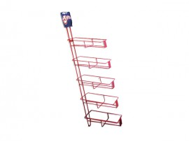 Supermarket Powder Coated Metal Floor Display Stand for goods